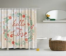 Hello My Love Chrysanthemum Floral Bouquet Shower Curtain Extra Long 84Inch