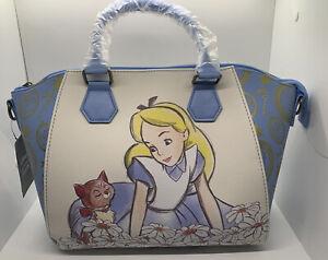 Loungefly Disney Alice In Wonderland Satchel Alice And Dinah Sketch Purse Bag 🔥