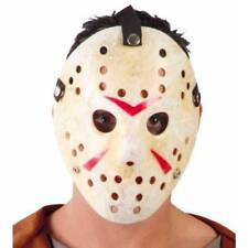 Deluxe Jason Hockey Mask Friday 13th Halloween Adult Fancy Dress Horror Costume