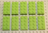 Lego Lime Green Brick 2x4 10 pieces NEW!!!