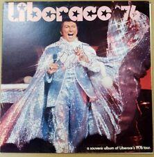 LIBERACE 76 PERSONALLY SIGNED SOUVENIR ALBUM OF LIBERACE'S 1976 TOUR LP WITH COA