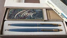 Mint Blue Parker Lady Classic BP & Pencil, Boxed w/ Price Label, New Old Stock