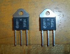 Lot of 2 new TIP34 transistors: Motorola, PNP SILICON POWER, TO-218 PACKAGE