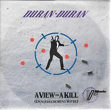 "45 TOURS / 7"" SINGLE--DURAN DURAN--A VIEW TO A KILL--1985"