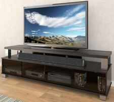 75 Inch TV Stand Entertainment Center Black Media Console Storage Flat Screen