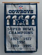 Dallas Cowboys -  Custom Super Bowl Banner - 3 Ft x 5 Ft - America's Team - NFL