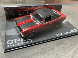 OPEL Commodore A Coupé GS/E rot 1970-1971, Eagle Moss Opel Collection 1:43 OVP