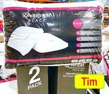 2020 BeautyRest Black Luxurious Down Alternative Pillows 400 Thread Queen 2Pack