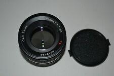 Carl Zeiss Planar f/1.7 50mm T Lens Contax C/Y Mount