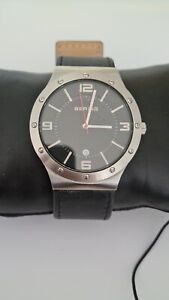 Bering Men's Wristwatch Slim Classic - 12739-402-1 Leather strap