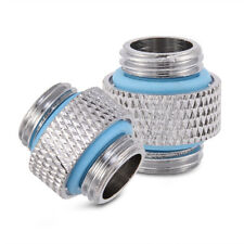 2pcs Male to Male Coupling Adapter Extender Fitting G1/4 For PC Water Cooling SG