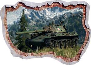 Tanks War Army Military 3D Wall Sticker Art Poster Decals Murals Room Z73