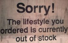 SORRY! THE LIFESTYLE YOU ORDERED BANKSY BANKSEY A4 PICTURE PRINT A4 WALL ART