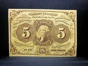5C FRACTIONAL CURRENCY ✪ CHOICE UNCIRCULATED ✪ 1ST ISSUE L@@K NOW UNC ◢TRUSTED◣