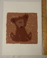 Bonnie Harris Serigraph Teddy Bear Original Silkscreen Print #3 - Baby Child Art