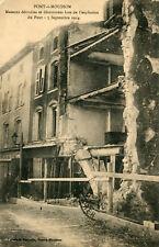 PONT A MOUSSON Maisons détruites et détériorées los de l'explosion du Pont 1914