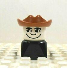 Lego Duplo Figure Dad in Cowboy Hat Vintage 1980's