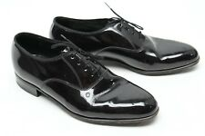 Florsheim Mens Formal Tuxedo Shoes 7.5 D Black Patent Leather Oxford Balmoral