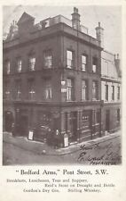 """London Postcard. """"Bedford Arms"""" Pont St. Chelsea. Reid's Stout. Pristine! 1905"""
