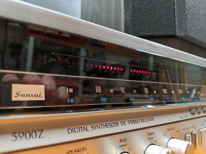 Vintage Sansui Model 5900Z Digital Synthesizer Stereo Receiver - Works Great!