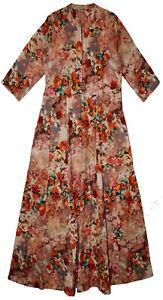 Indian Dress Cotton Retro Blusa Vestir Ethnic Women Bohemian Retro Hippie Gown