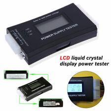 PC Computer LCD 20/24 Pin 4 PSU ATX BTX ITX SATA HDD Digital Netzteil Tester