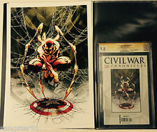 Civil War Chronicles #4 (Cgc 9.8 Ss & Print Combo) Signed by Michael Turner
