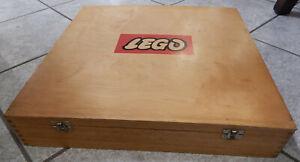 alter großer HOLZ LEGOKASTEN 60er/70er Jahre mit Steinen 42 cm x 42 cm