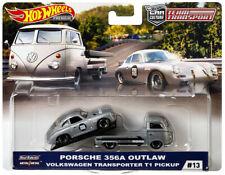 Hot Wheels Team Transport 2019 #13 Porsche 356A Outlaw VW Transporter T1 Pickup