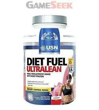 USN Diet Fuel 2kg Ultralean Protein Shake Weight Fat Loss 1kg Strawberry
