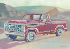 original drawing A4 60SV art 1970 ford pickup selling 2020