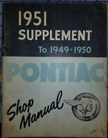 1951 Pontiac Service Shop Manual Supplement Original