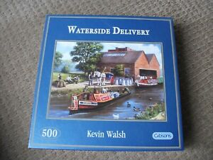 GIBSONS JIGSAW - WATERSIDE DELIVERY - 500 PIECE - EXCELLENT CONDITION & BOX