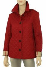 NEW BURBERRY PARADE RED DIAMOND QUILTED CHECK LINING JACKET S SMALL