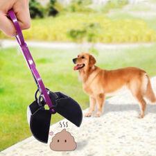 Dog cat pet pooper scooper jaw poop scoop pickup cleanwaste shovel long handl BD