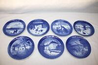 Set of 7 Royal Copenhagen Christmas Plates 1968-1976 (Lot #5)