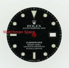 Vintage Men's Rolex Submariner Date Gloss Black Gilt Dial 16800 16610 S/S #D43