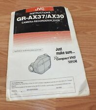 Replacement Instruction Manual Only For JVC GR-AX37/AX30 Camcorder **READ**