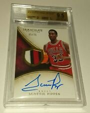 Card scottie pippen auto immaculate patch jersey graded 9.5