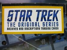 2020 Rittenhouse Star Trek TOS Archives and Inscriptions Base 50-59 Select Card