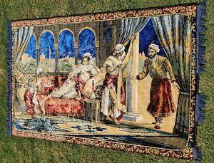 "Harem Tapestry - Wall Hanging - Plush - Rug - 6' 3"" x 4' 2"""