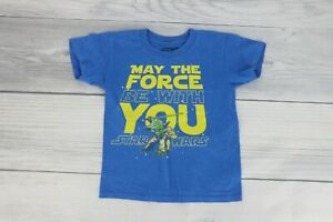 Star Wars Little Boys Yoda May The Force Be With You Graphic T Shirt Size 5 Blue