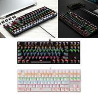 Mechanical Gaming Keyboard RGB LED Rainbow Backlit keyboard 9 Lighting Modes