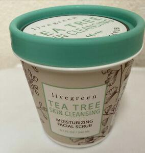 LIVE GREEN TEA TREE SKIN CLEANSING MOISTURIZING  FACIAL SCRUB-NEW