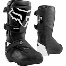 Fox COMP MX Motocross Offroad Boots Black Youth Kids Size Uk 4 Us 5 was £155
