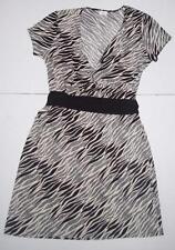Womens Zebra Print Dress Large Jaclyn Smith NEW