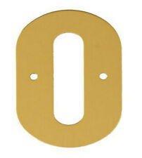 2'' Gold Anodised Numeral 0