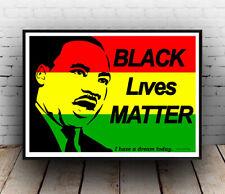 Black lives matter :  Words & Martin Luther King artwork, Poster