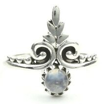 Ludhiana Moonstone Ring, Sterling Silver Moonstone Ring, Ethnic Moonstone Ring