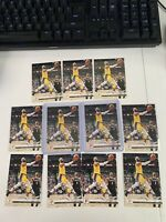 2019-20 CHRONICLES PANINI #112 LEBRON JAMES LOS ANGELES LAKERS LOT OF 11